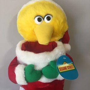 Sesame Street Big Bird Christmas Stocking NWT